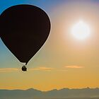 Myanmar. Bagan. Hot Air Balloons. Silhouette. by vadim19