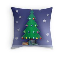 A Christmas scene Throw Pillow
