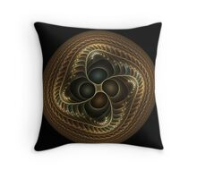 Copper button twist Throw Pillow