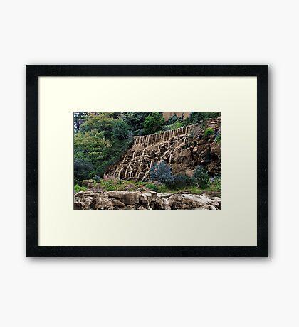 """Sepia Falls"" Framed Print"