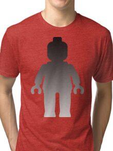 Minifig [Large Silver] Tri-blend T-Shirt