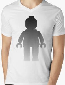 Minifig [Large Silver] Mens V-Neck T-Shirt