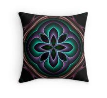 3d fractal mandala Throw Pillow