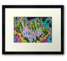 Psychedelic colors. Framed Print