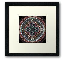 3d pastel fractal mandala Framed Print