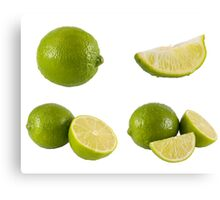 fresh limes Canvas Print