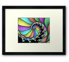 Pastel rainbow spiral Framed Print