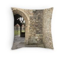 A Gate Ajar Throw Pillow