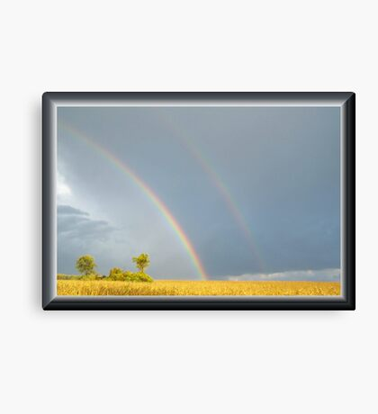 Rain and the Double Arc Canvas Print