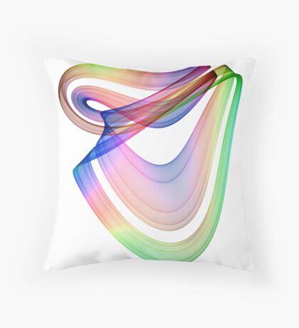 Fantasy rainbow harp Throw Pillow