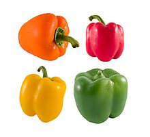 Fresh bell peppers Photographic Print