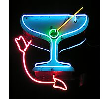 Martini in Neon Photographic Print