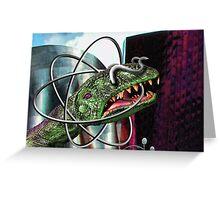 Atom Horn Greeting Card