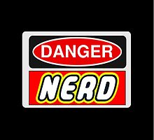 Danger Nerd Sign by Customize My Minifig