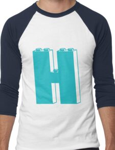 THE LETTER H, by Customize My Minifig Men's Baseball ¾ T-Shirt