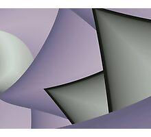 Pale geometry Photographic Print