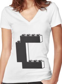 THE LETTER C Women's Fitted V-Neck T-Shirt