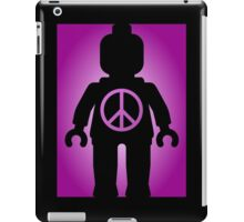Black Minifig with Peace Symbol, by Customize My Minifig iPad Case/Skin