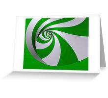 Spearmint twirl Greeting Card