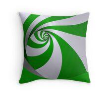 Spearmint twirl Throw Pillow