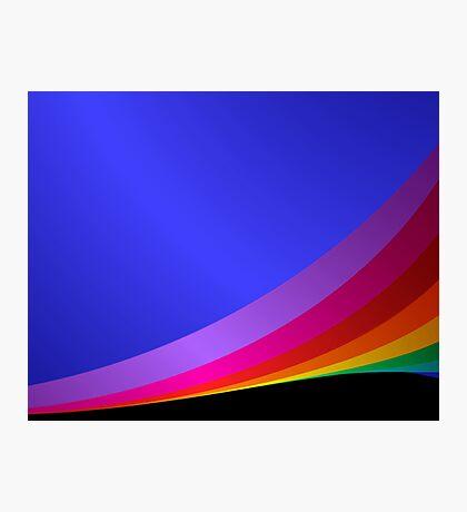 Shiny rainbow Photographic Print