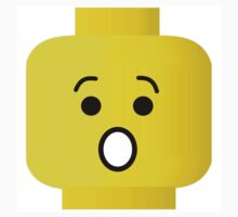 Shocked Minifig Head, by Customize My Minifig by Customize My Minifig