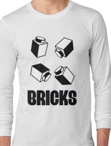 """BRICKS"", by Customize My Minifig Long Sleeve T-Shirt"