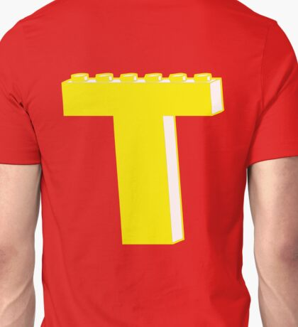 THE LETTER T, by Customize My Minifig Unisex T-Shirt
