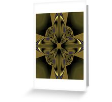Embossed cross Greeting Card