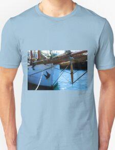 Old vintage wooden sail boat  T-Shirt