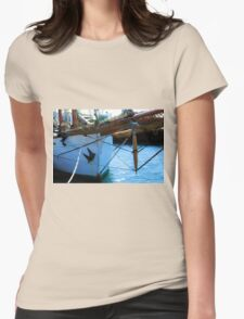 Old vintage wooden sail boat  Womens Fitted T-Shirt