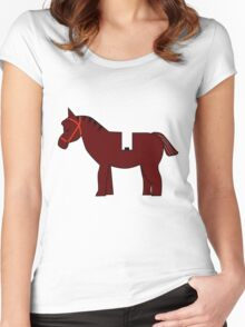 Interpretation of a Minifig Horse Women's Fitted Scoop T-Shirt