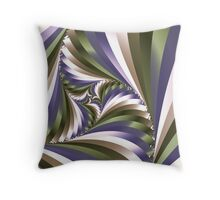 Swirling stripes Throw Pillow