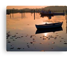 Reflection of a small dinghy dory boat Canvas Print