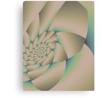 Smooth pastel nautilus shell Canvas Print