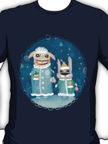 Funny postcard with sheep and rabbit T-Shirt