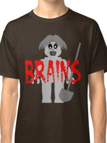 """Zombie Minifig """"BRAINS"""", by Customize My Minifig Classic T-Shirt"""