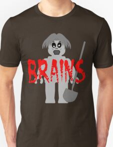 "Zombie Minifig ""BRAINS"", by Customize My Minifig T-Shirt"