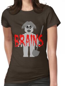 """Zombie Minifig """"BRAINS"""", by Customize My Minifig Womens Fitted T-Shirt"""