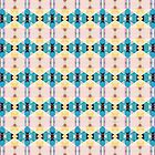 Turquoise Gold Pink Pattern by Phil Perkins