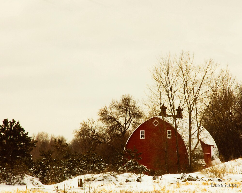 Minnesota Barn in Winter by Dave Haas