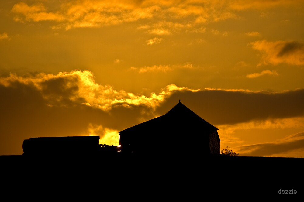 Barn Sunset by dozzie