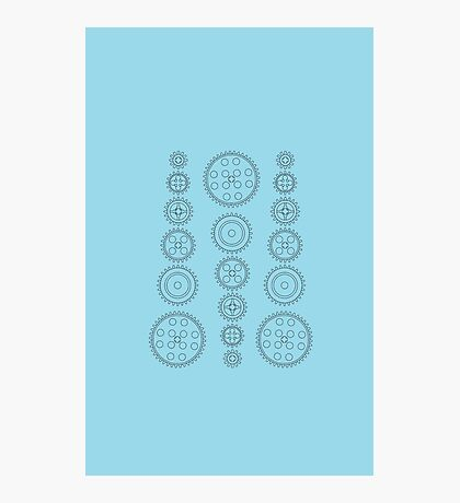 Cog Gear Wheels Pattern Photographic Print