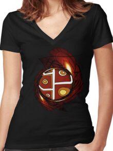 SYMBOL4 Women's Fitted V-Neck T-Shirt