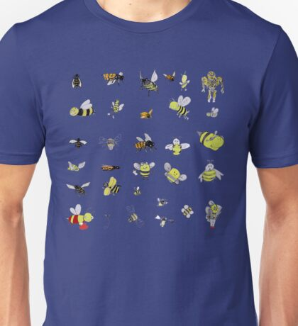 Bees combined Unisex T-Shirt