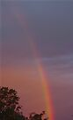 Rubyvale Rainbow sunset  by Jayson Gaskell
