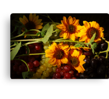 Sunflowers and Grapes Canvas Print