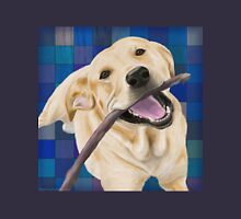 Blond Labrador Smiling with Joy, Chewing a Stick Unisex T-Shirt