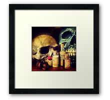 Skulls and Drugs Framed Print