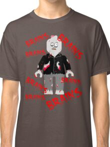 A LOT OF BRAINS - ZOMBIE MINIFIG Classic T-Shirt